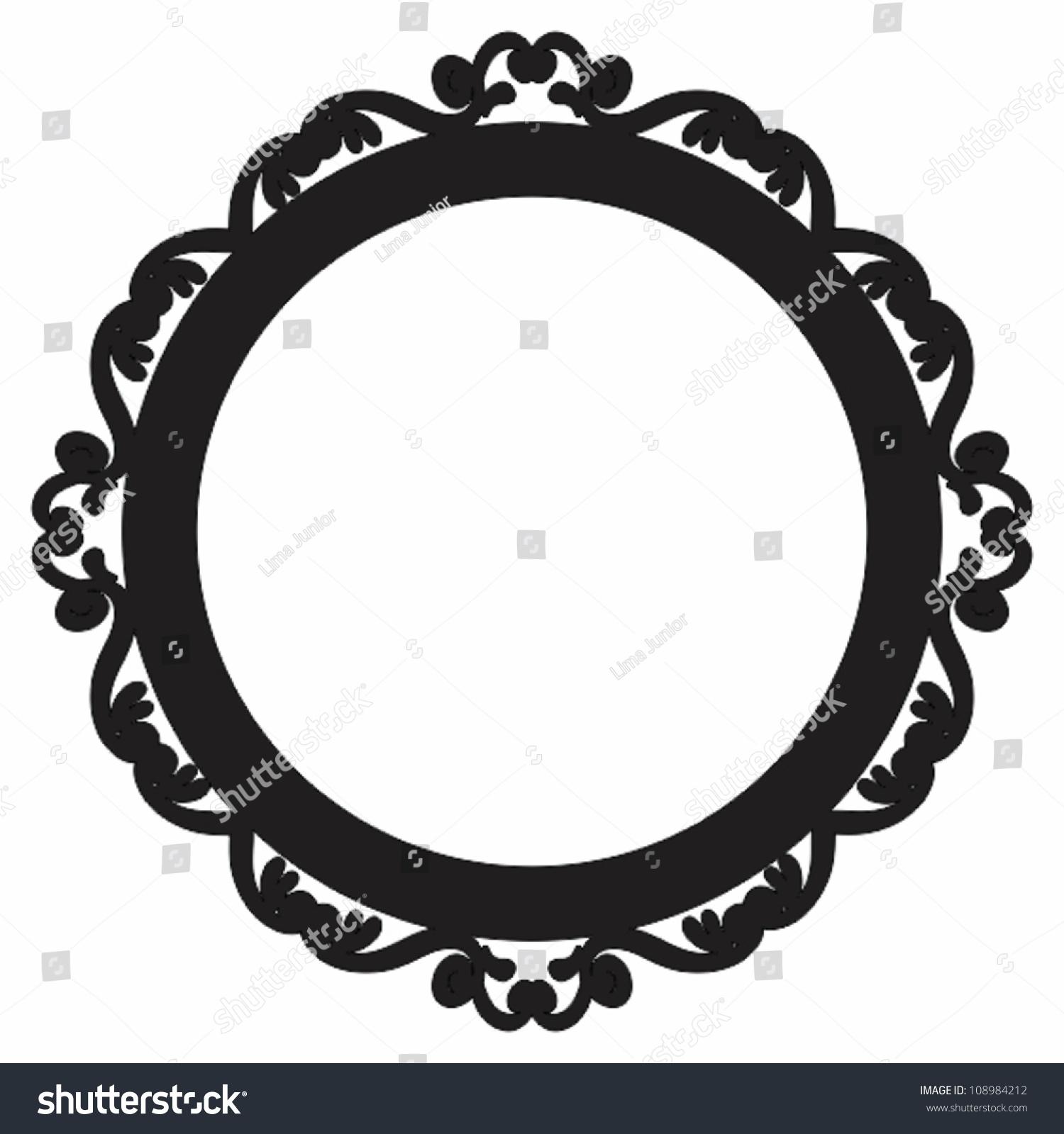 Circle Baroque Framevictorian Borderold Stock Vector ...