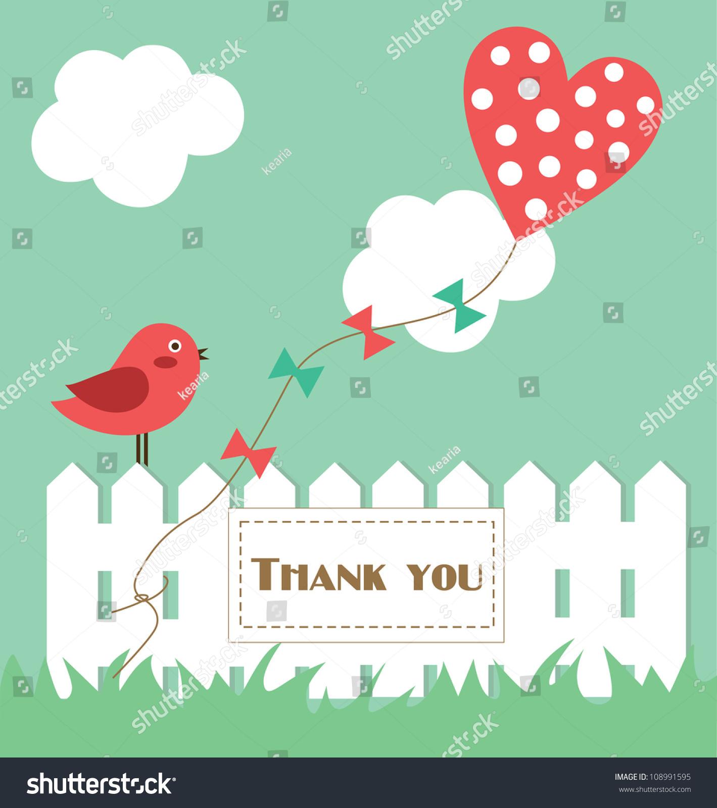 thank you card design vector illustration stock vector 108991595