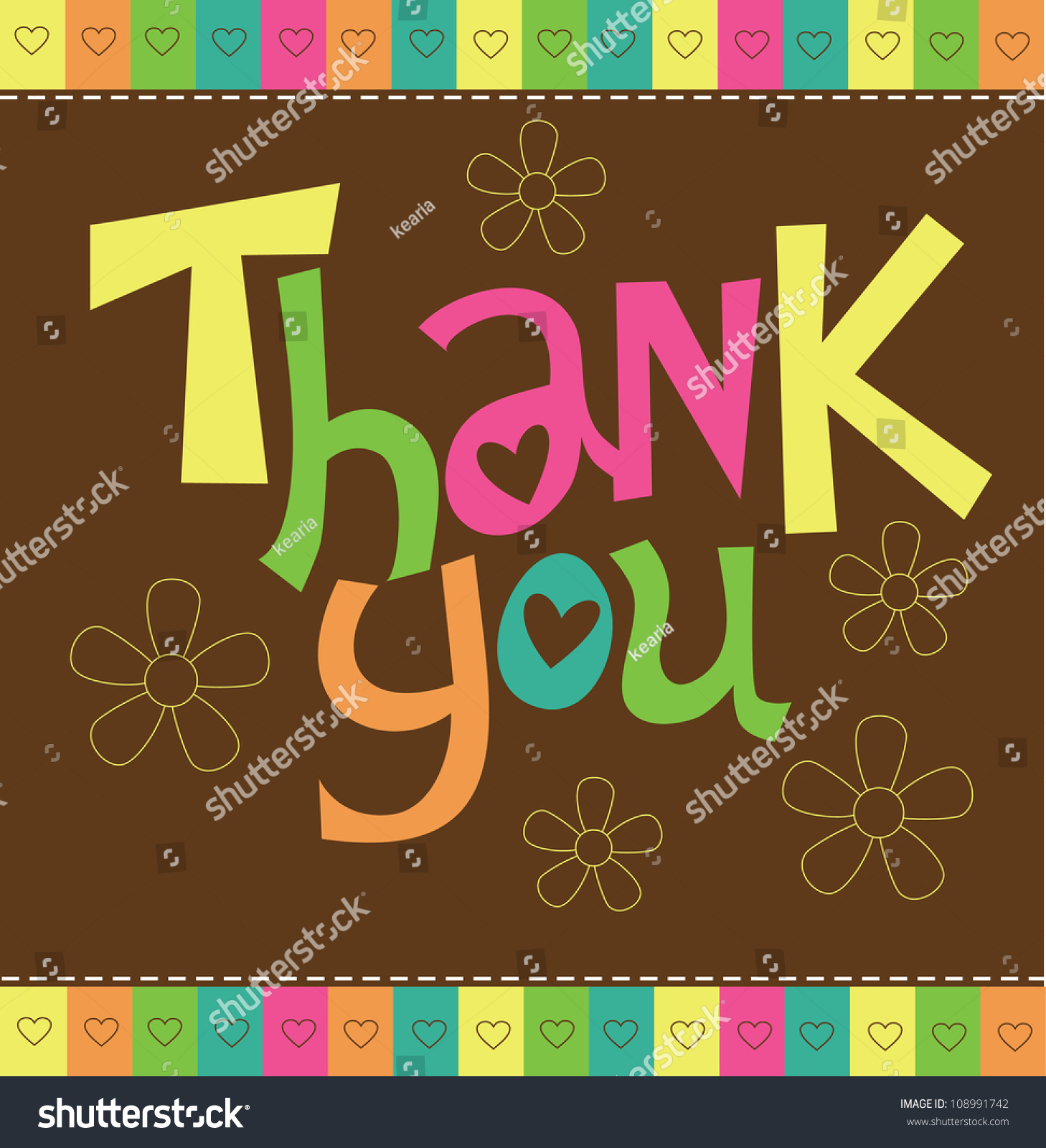 thank you card design vector illustration stock vector 108991742