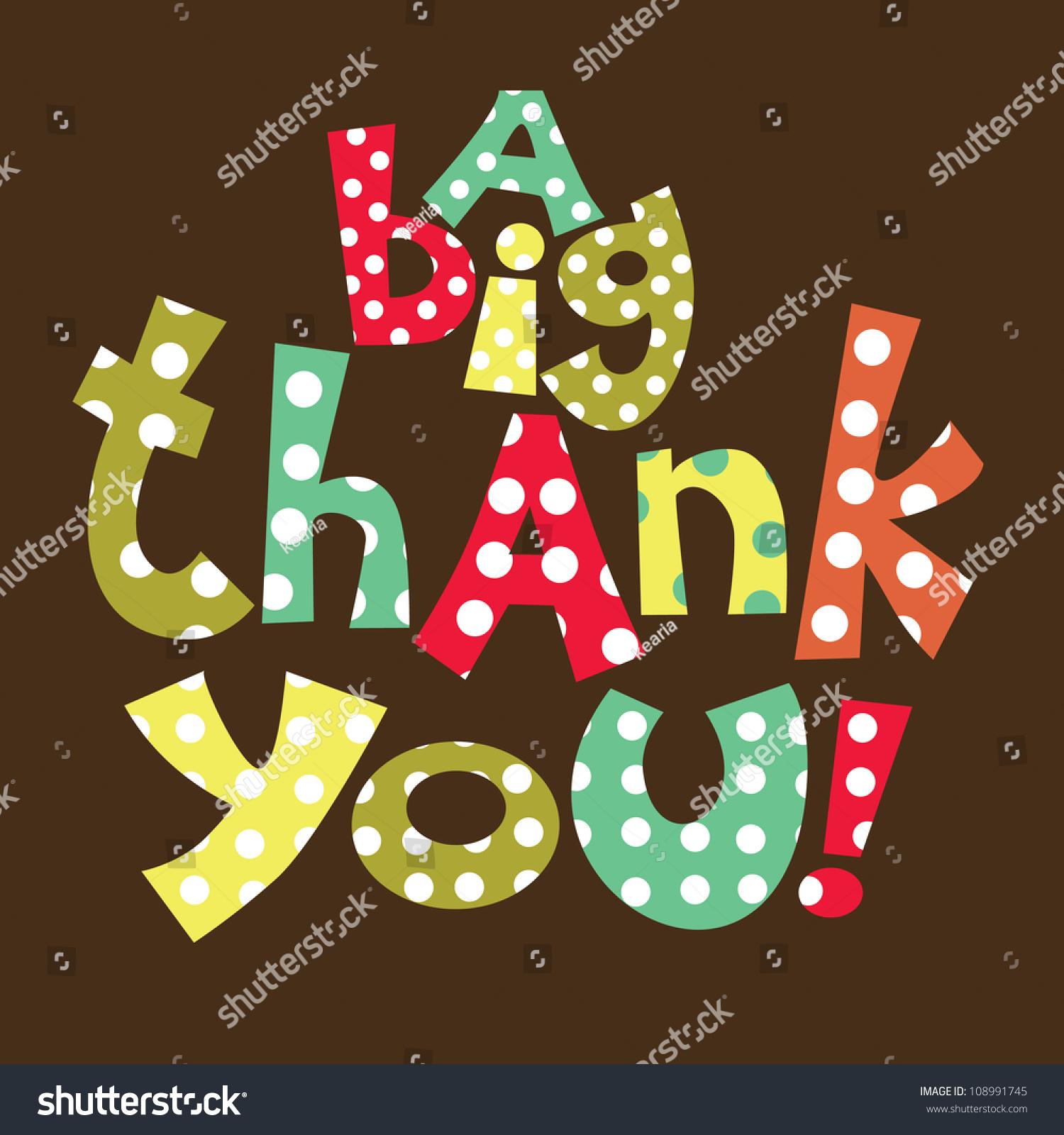 Thank You Card Design Vector Illustration Stock Vector 108991745 ...