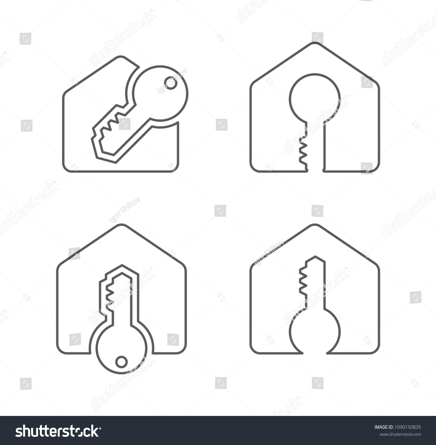 Blinds Vs Curtains89 Garage Door Sensor Wiring Diagram Http Wwwjustanswercom Appliance Stock Vector House And Key Outline Icon Logo 1090150835