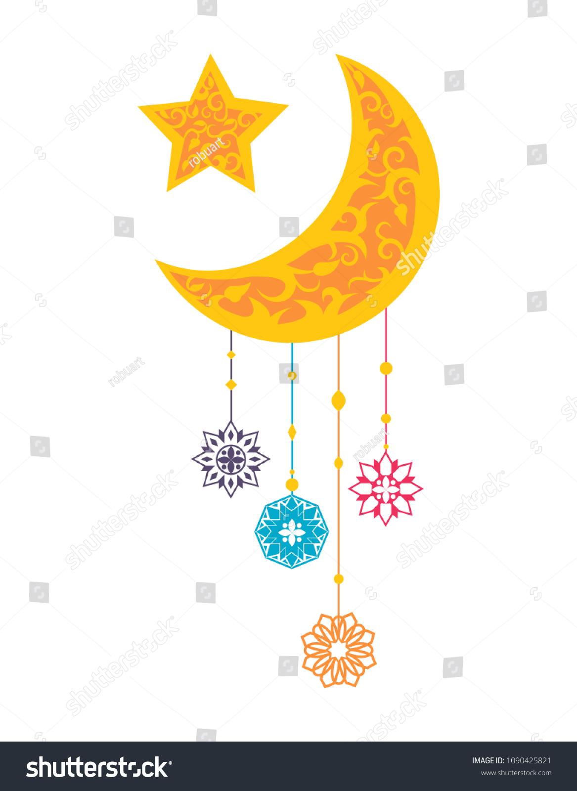 Ramadan Kareem Crescent Moon Star Internationallyrecognized Stock