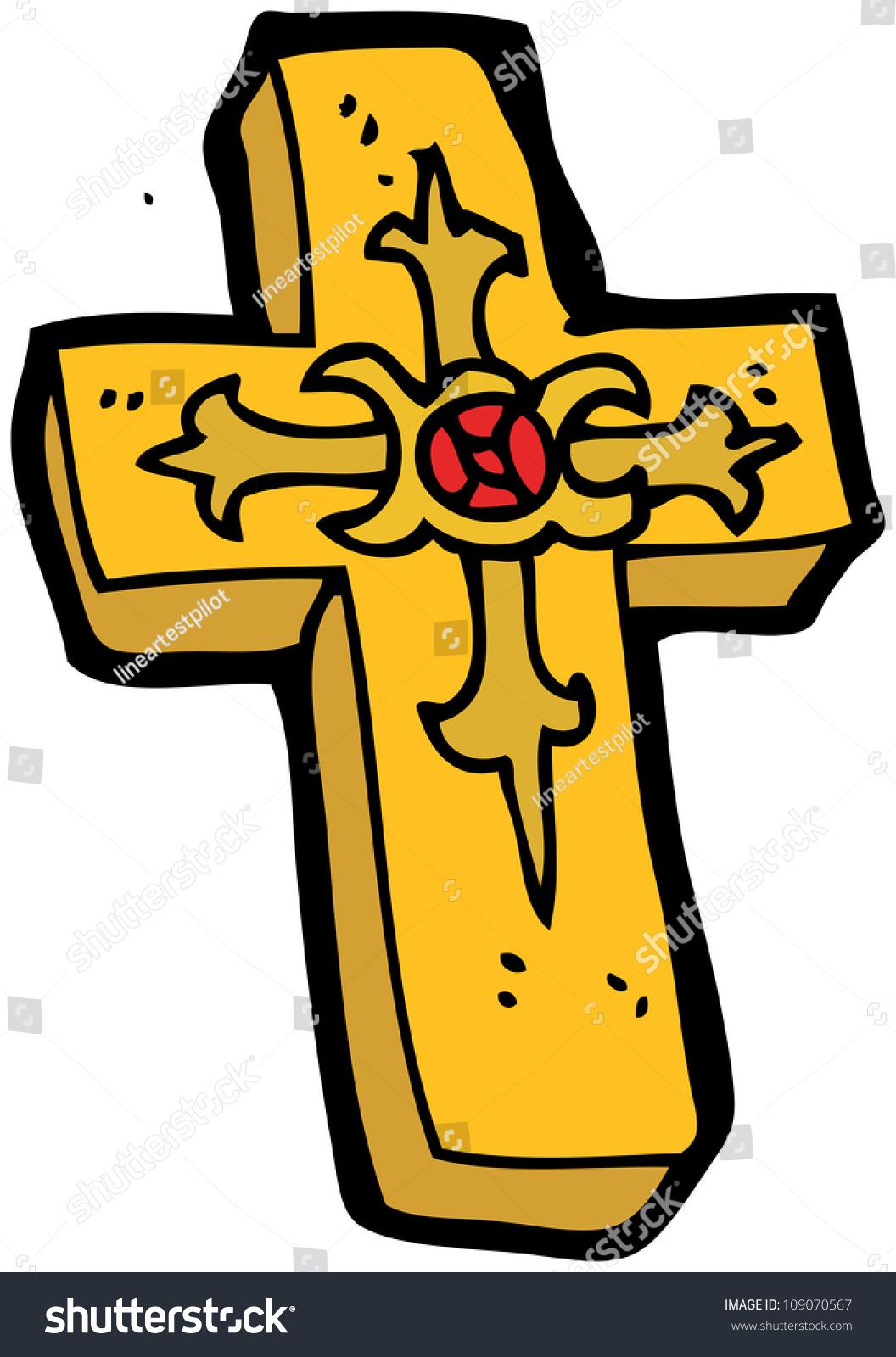 Cartoon Cross Stock Photo 109070567   Shutterstock