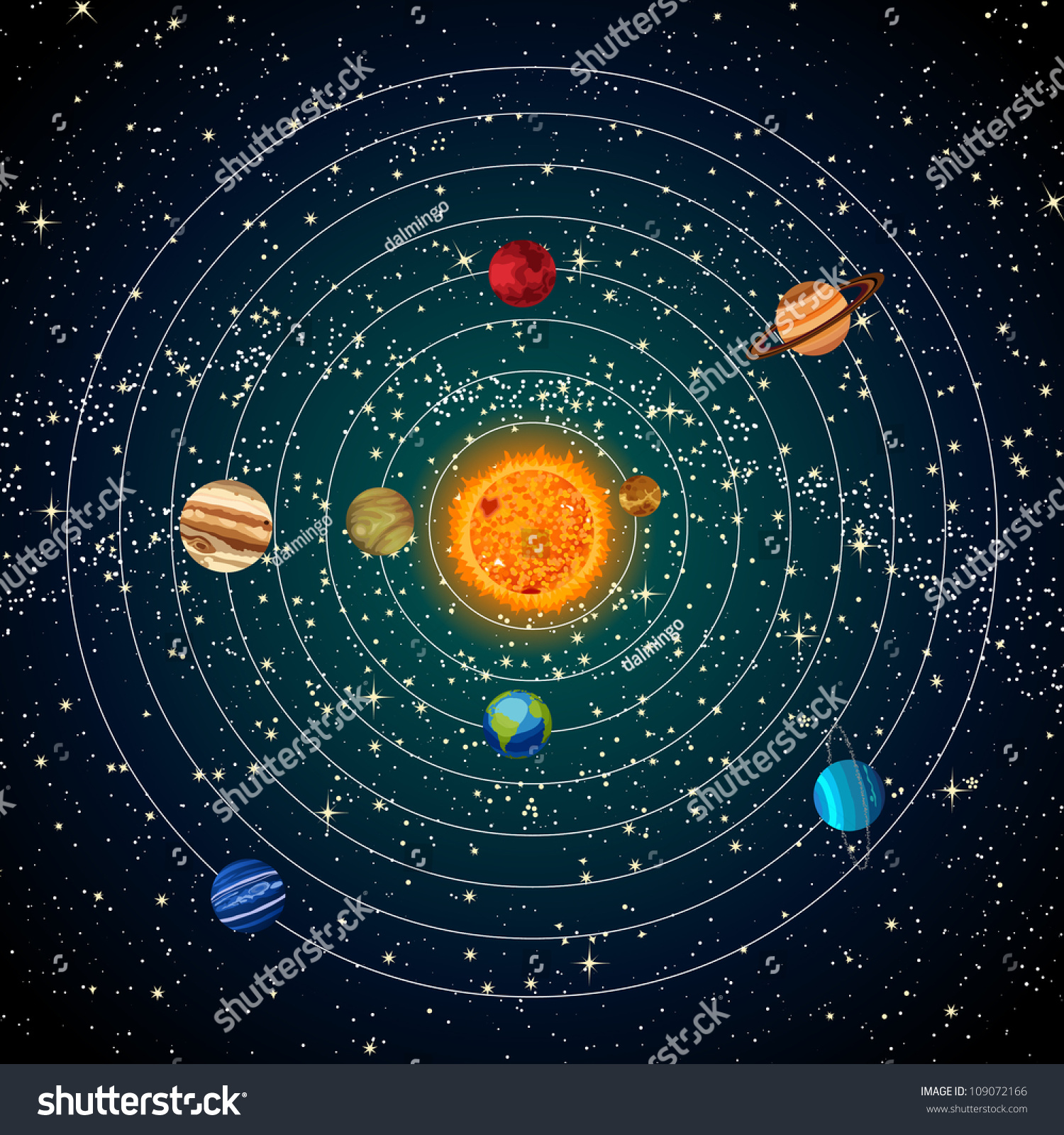 Worksheet The Sun And Stars solar system sun planets stars stock illustration 109072166 with and stars