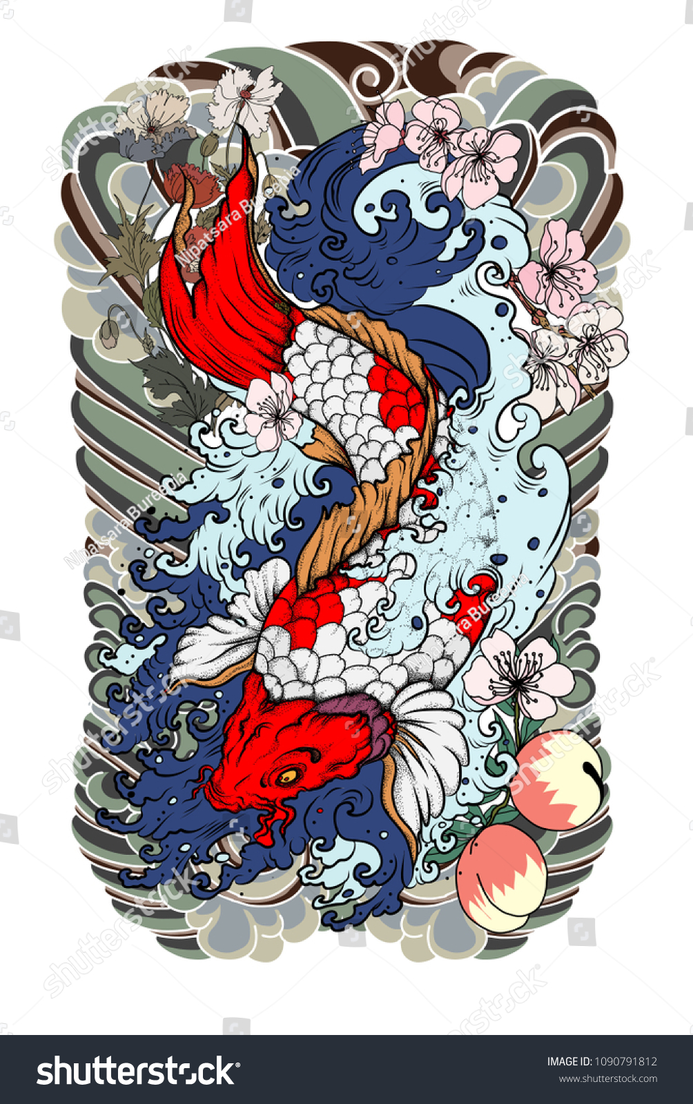 Fancy Koi Fish Color Symbolism Mold - Drawing Coloring ...