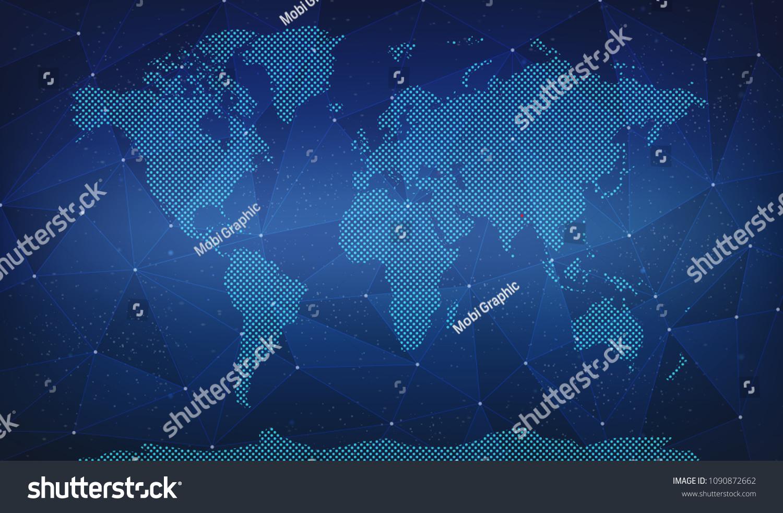 Bhutan Digital World Map Stock Illustration Royalty Free Stock