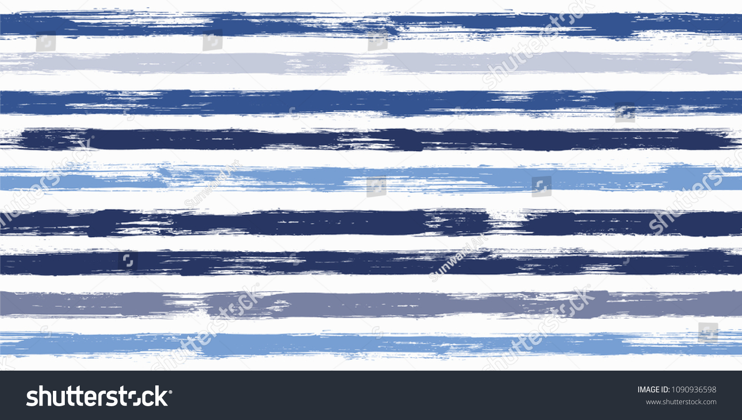 smeared watercolor brush stripes seamless pattern stock vector