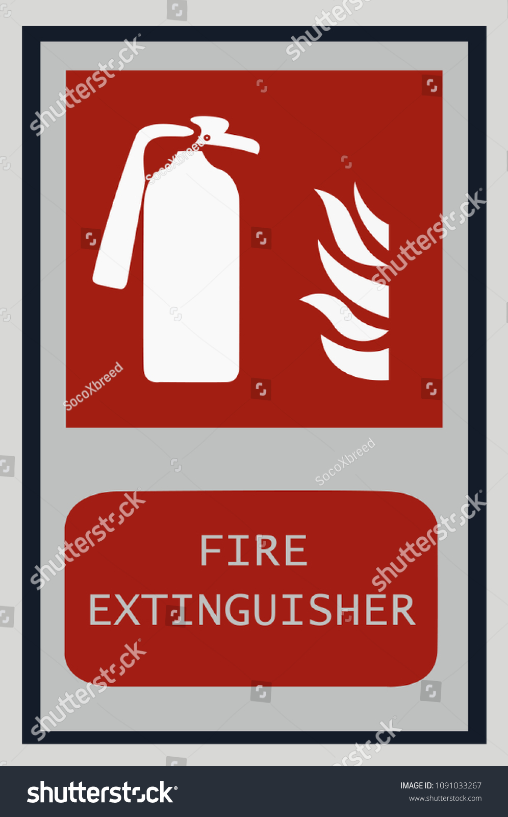 Fire Extinguisher Signs Fire Symbol Protection Stock Vector Royalty