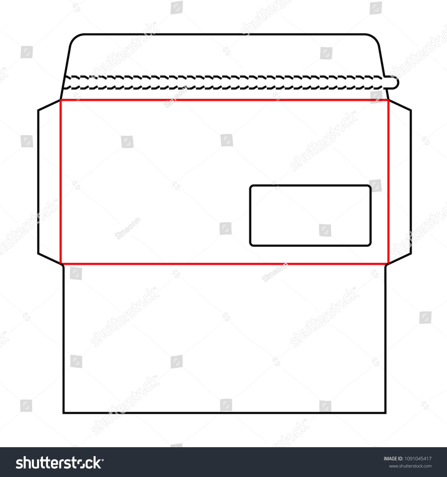 Envelope DL Size Wallet Die Cut Stock Vector (Royalty Free ...