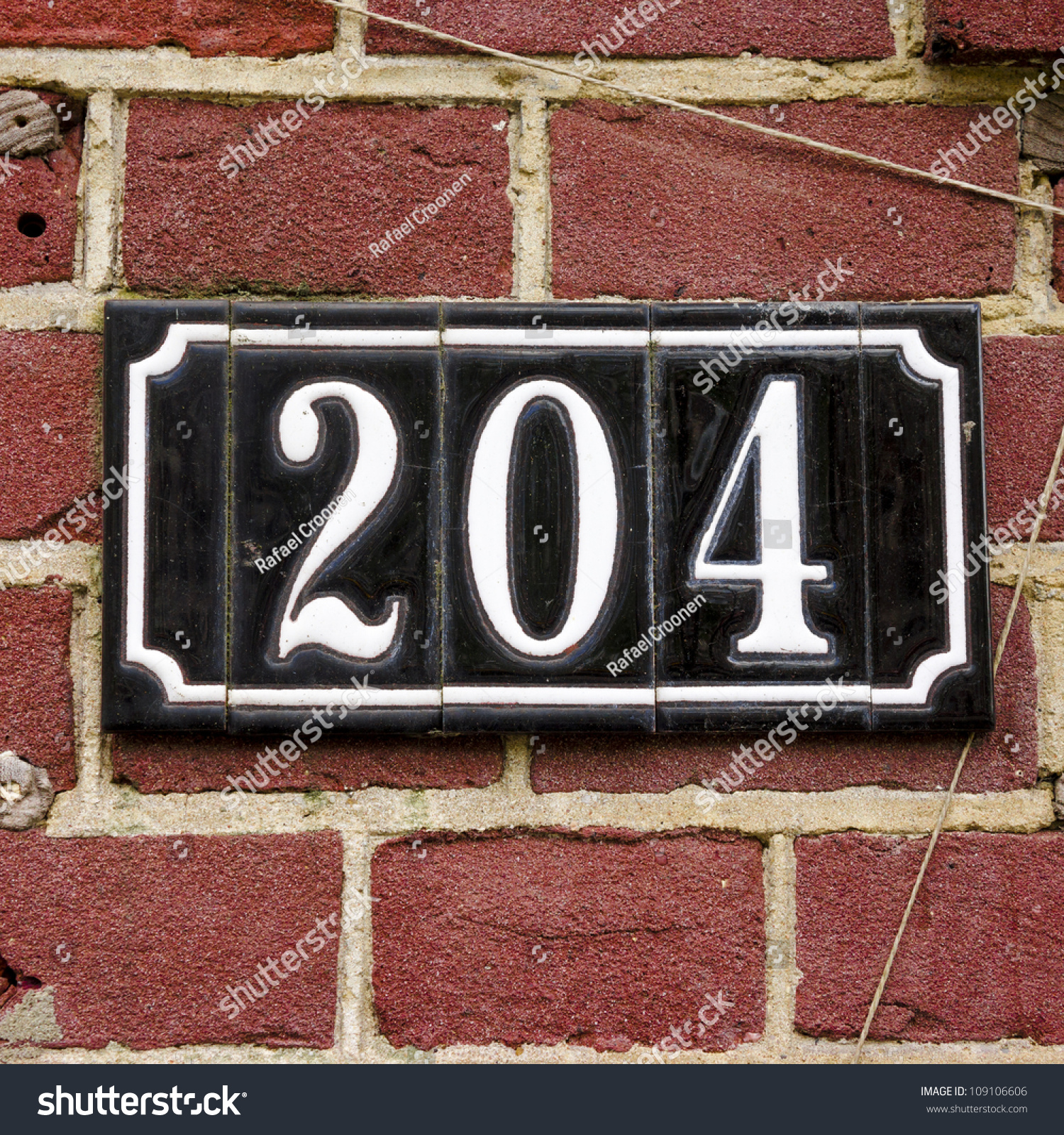 House Number Two Hundred Four Stock Royalty Free
