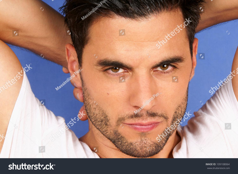 Light Blue Hair Men