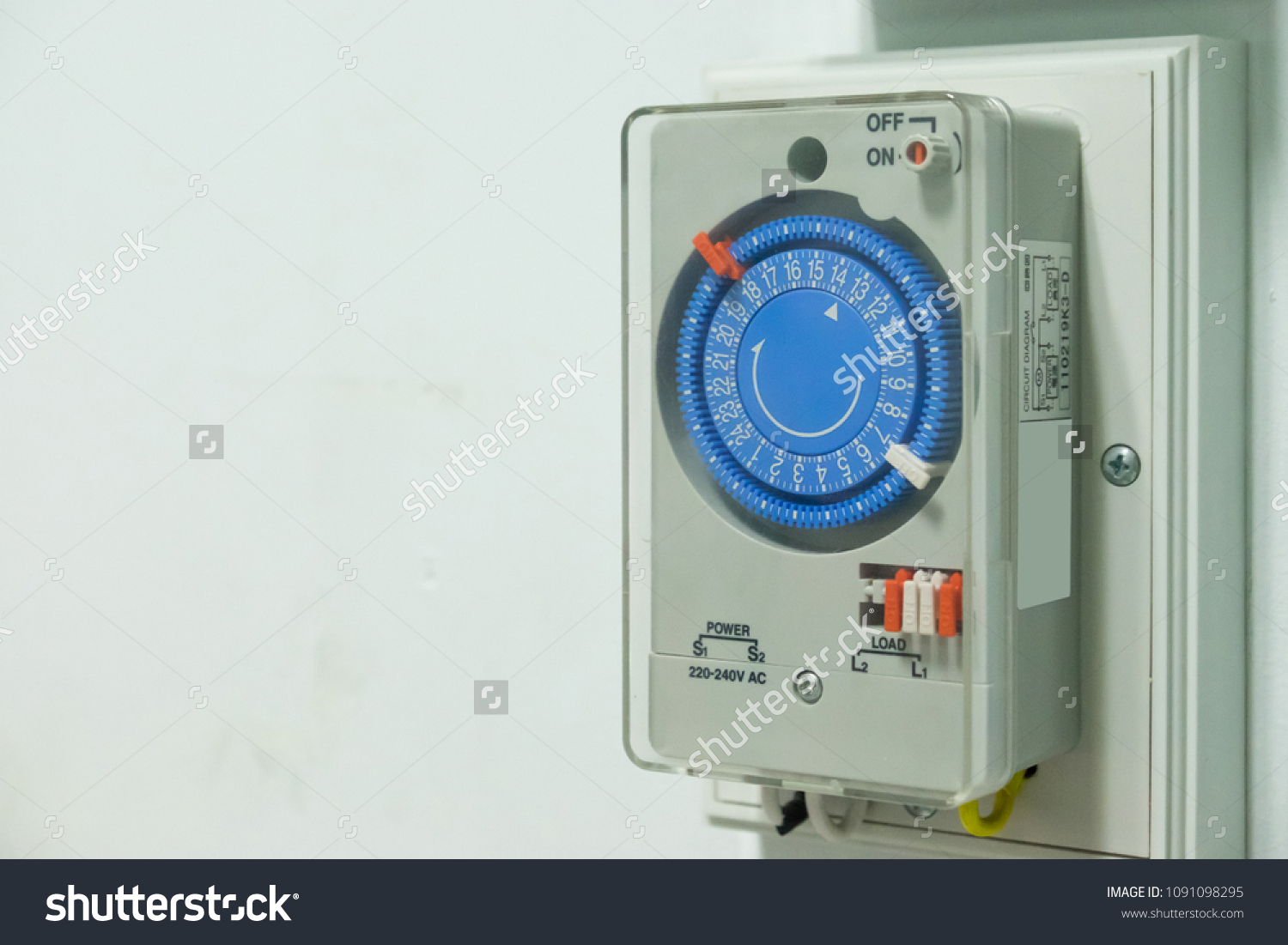 Electrical Ac Timer Plug Socket Switch Stock Photo Edit Now Power Off Relay Control Single Pole For Set