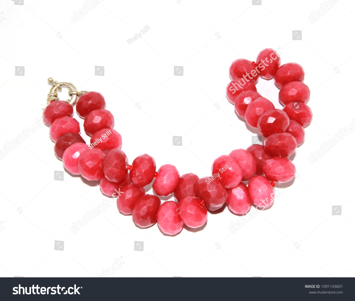 sthrielite re p atn on antique ruby off necklace