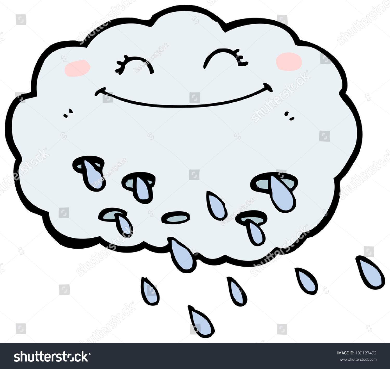 Happy Rain Cloud Cartoon Stock Illustration 109127492 ...