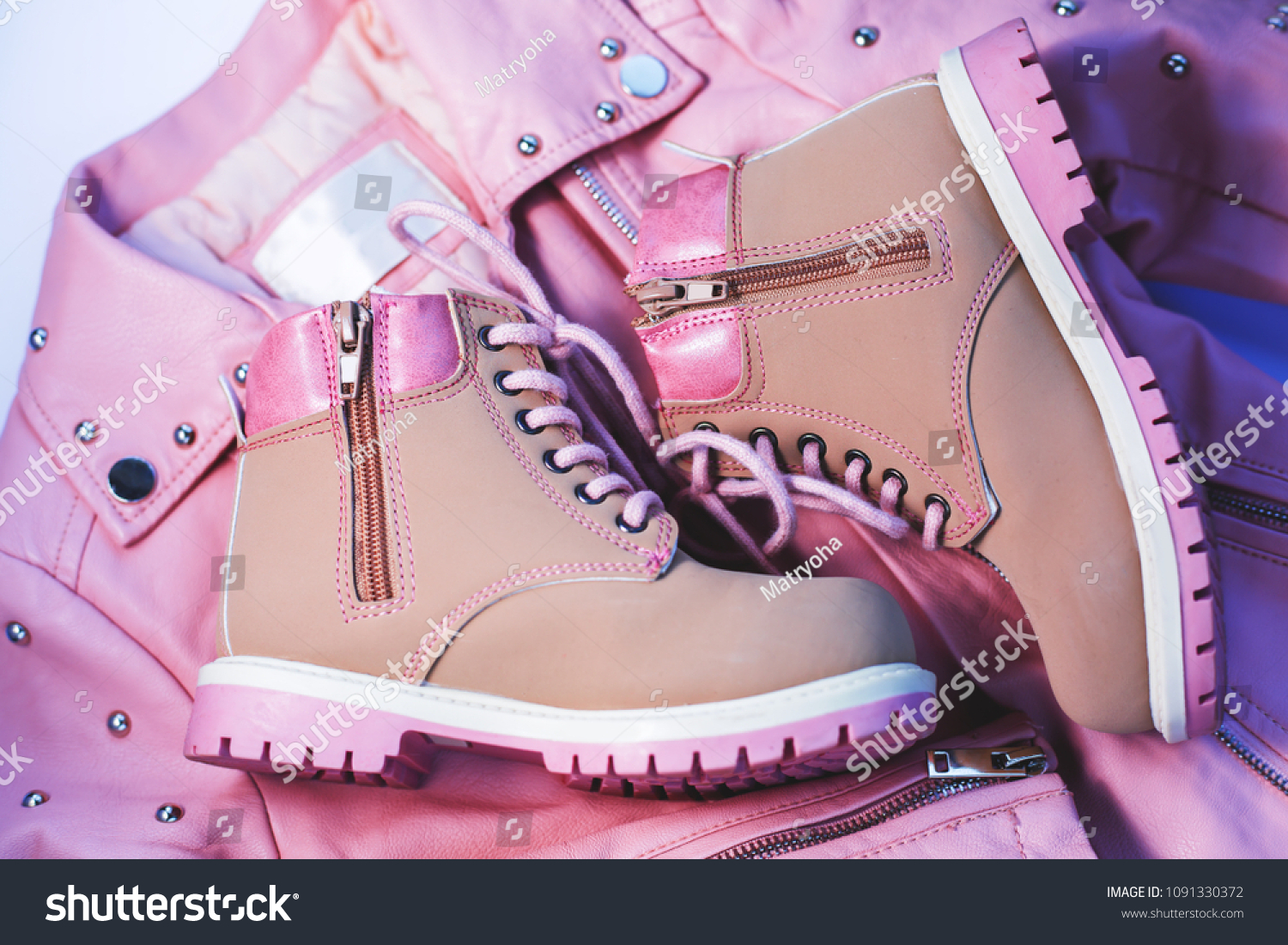 Childrens Clothes Pink Jacket Boots Top