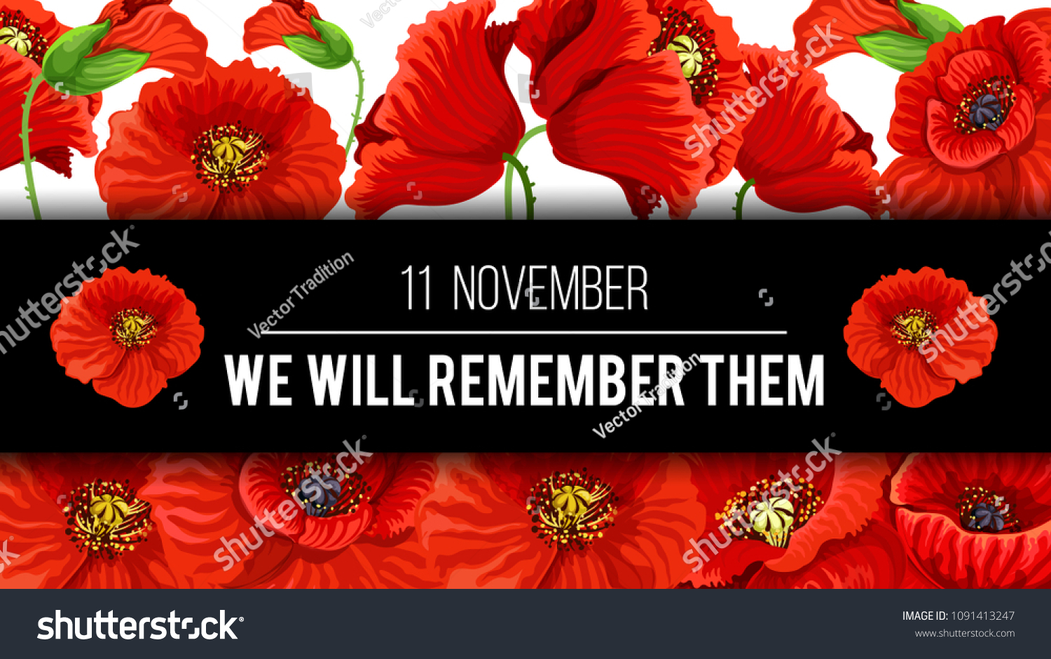 Remembrance day lest we forget 11 stock vector royalty free remembrance day lest we forget 11 november greeting banner or card of poppy flowers and quote mightylinksfo