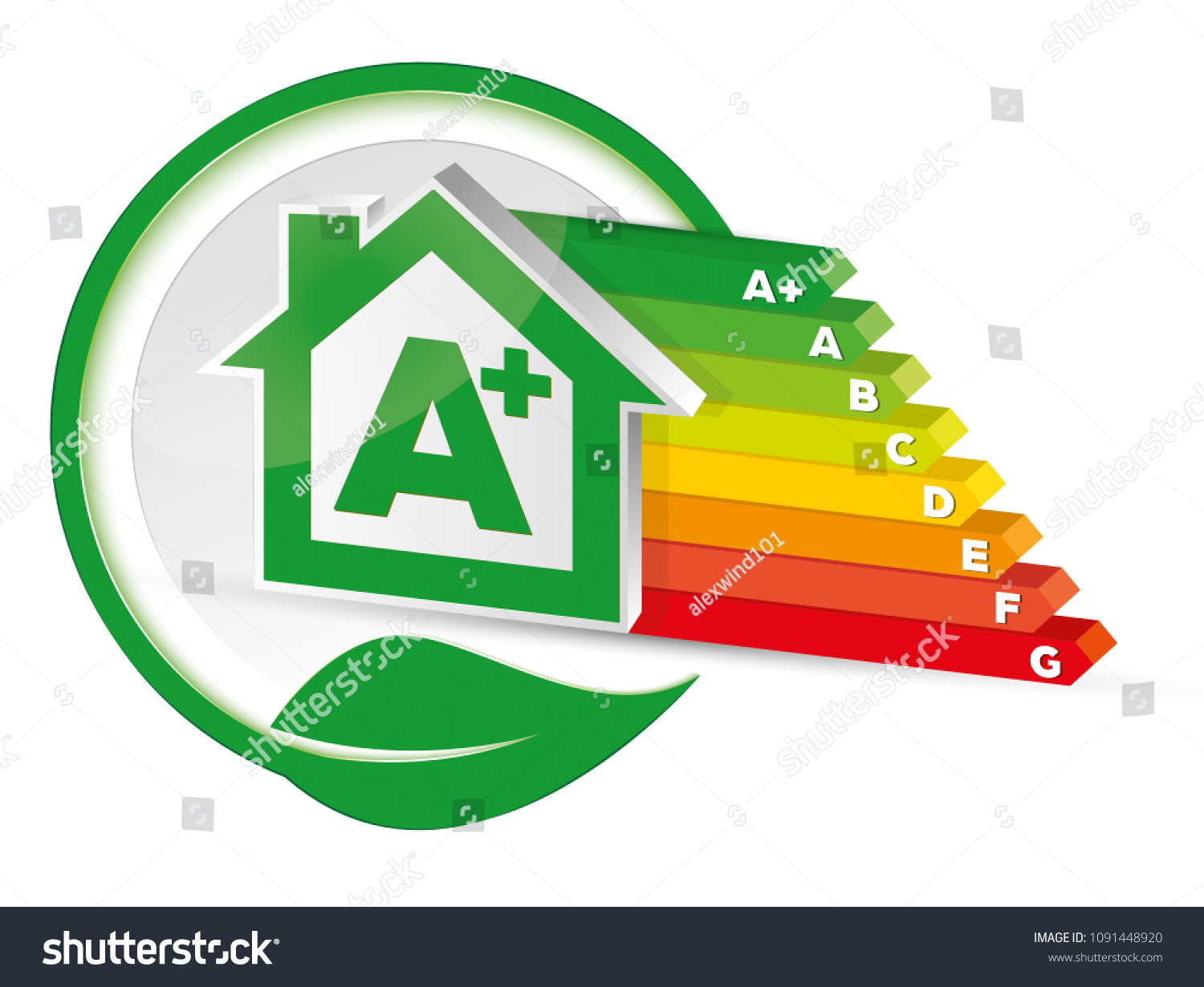 House Energy Class Certification Stock Vector Royalty Free