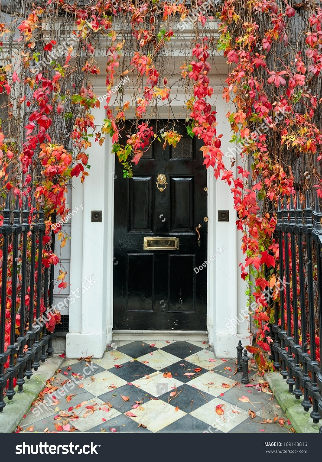 London Front Door Classic Victorian Mansion Stock Photo 109148846 ...