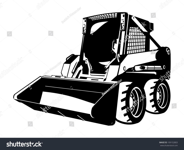 Skid Loader Stock Vector 109152803 - Shutterstock
