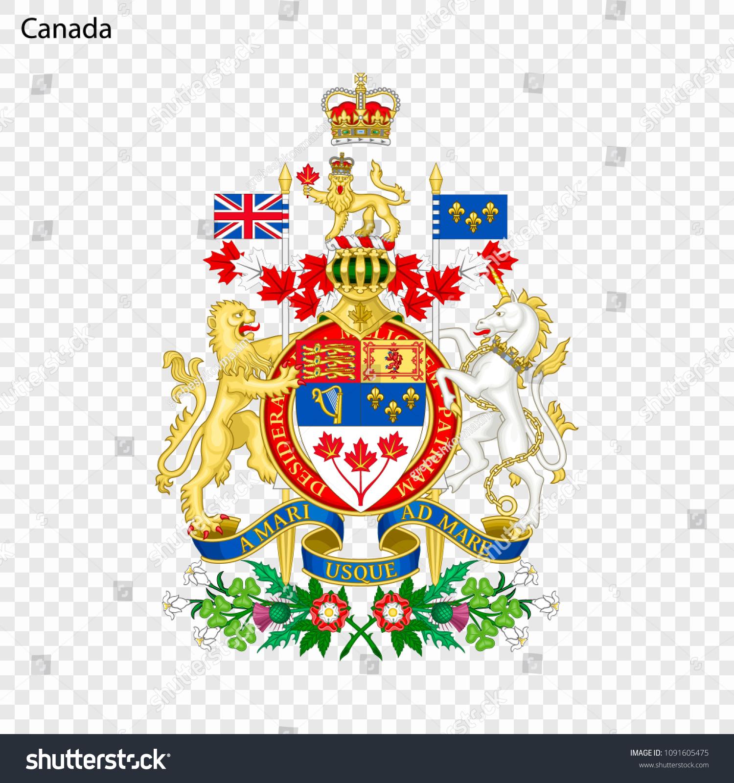 Symbol Canada National Emblem Stock Vector Royalty Free 1091605475