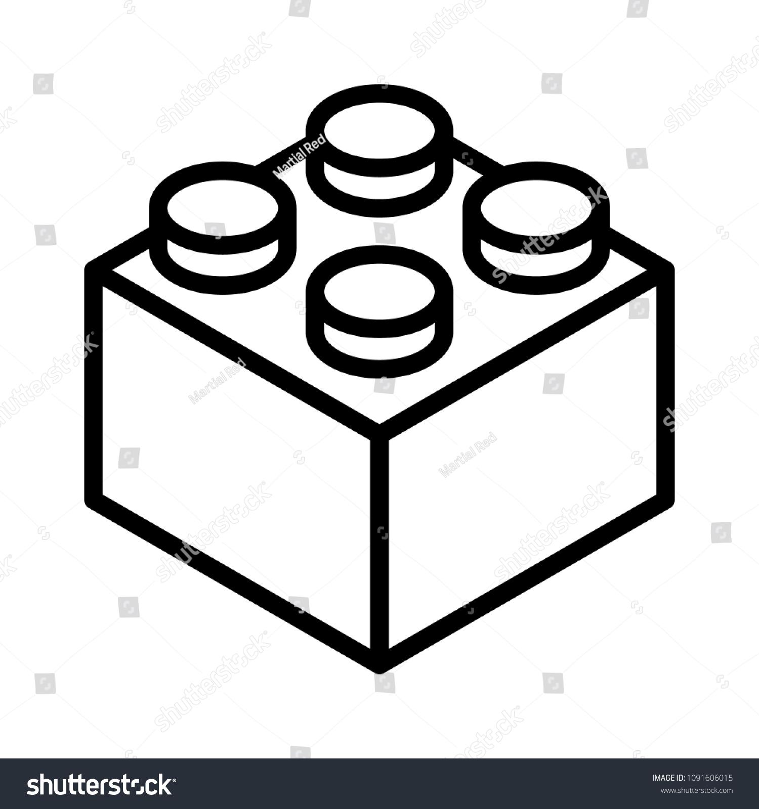 lego-backstein-block oder kunstwerk-vektorsymbol für spielzeugapplikationen  und websites  shutterstock