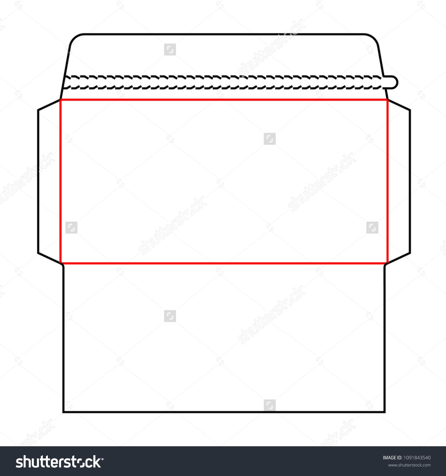 Envelope DL Size Wallet Die Cut Stock Vector (Royalty Free ...