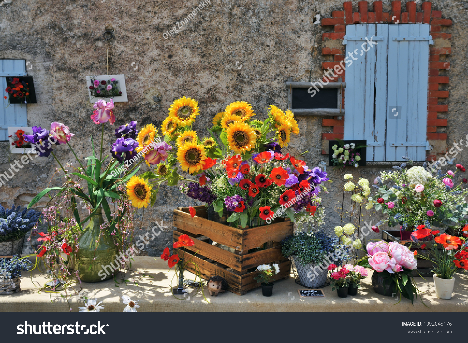 Beautiful Bouquets Flowers Sale On Street Stock Photo (Royalty Free ...