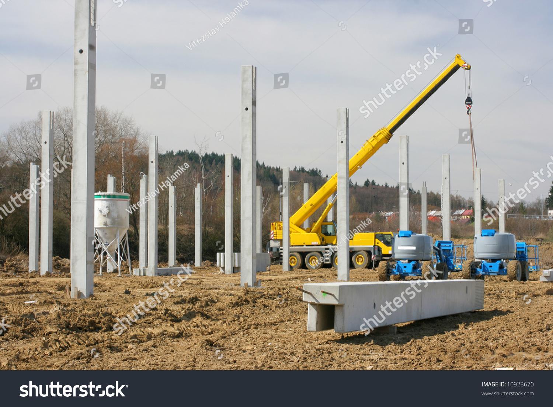 Pillar Concrete Buildings : Concrete pillarconstruction stock photo