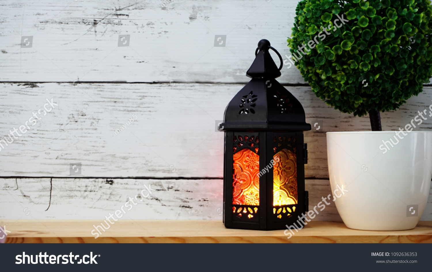 Beautiful Vintage Candle Light Home Decoration Stock Photo (Royalty ...