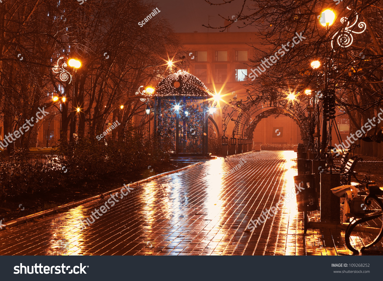 Scenic View Empty Night Alley City Stock Photo (Royalty Free ... for Empty City Street At Night Raining  45hul