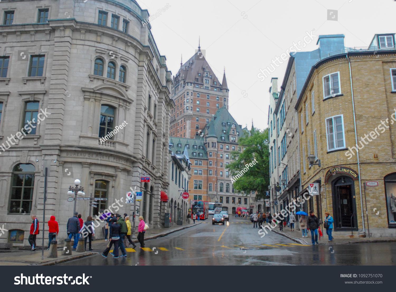 Quebec city quebec canada on october stock photo edit now
