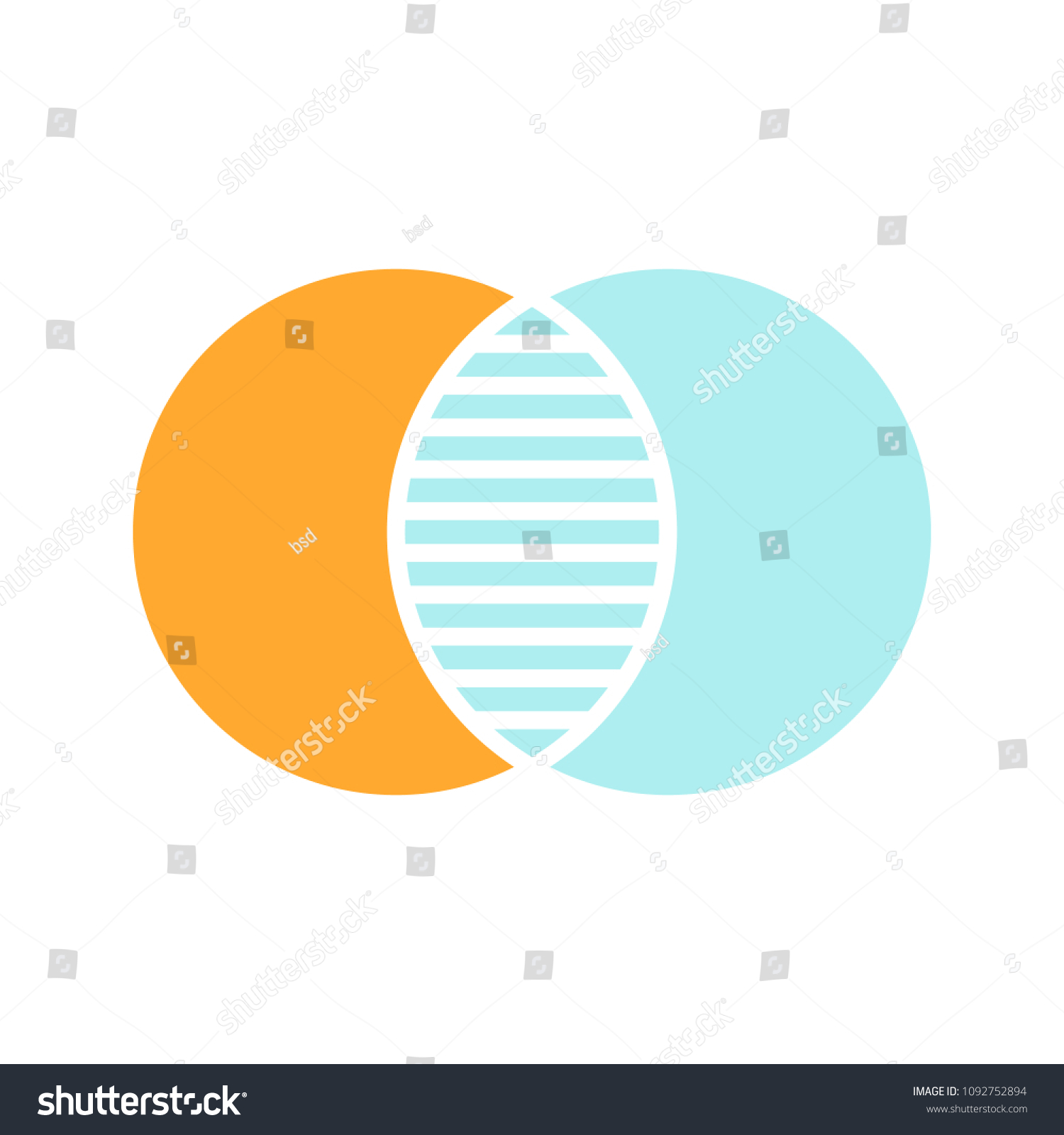 Discrete Maths Glyph Color Icon Overlapping Stock Vector Royalty Logic Venn Diagram Pictures Circles Intersection Silhouette Symbol
