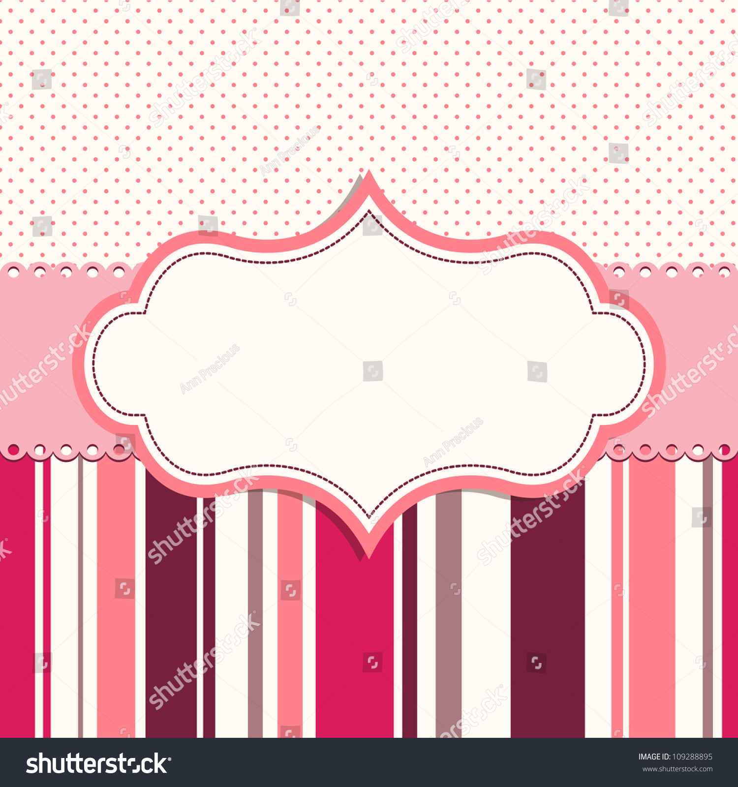 pink frame for greeting card stock vector 109288895