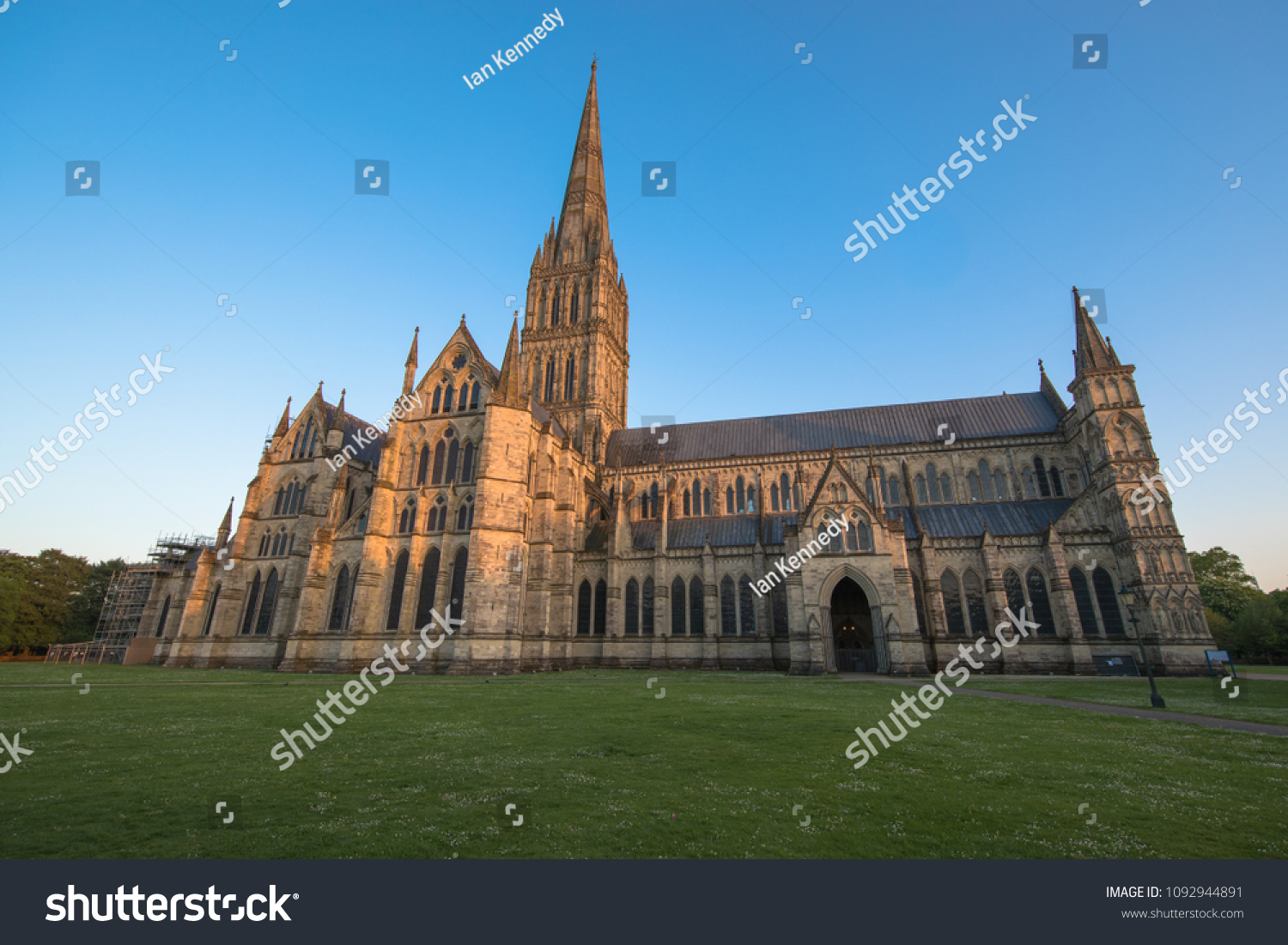 Views of Salisbury Cathedral, Salisbury, Dorset, UK #1092944891
