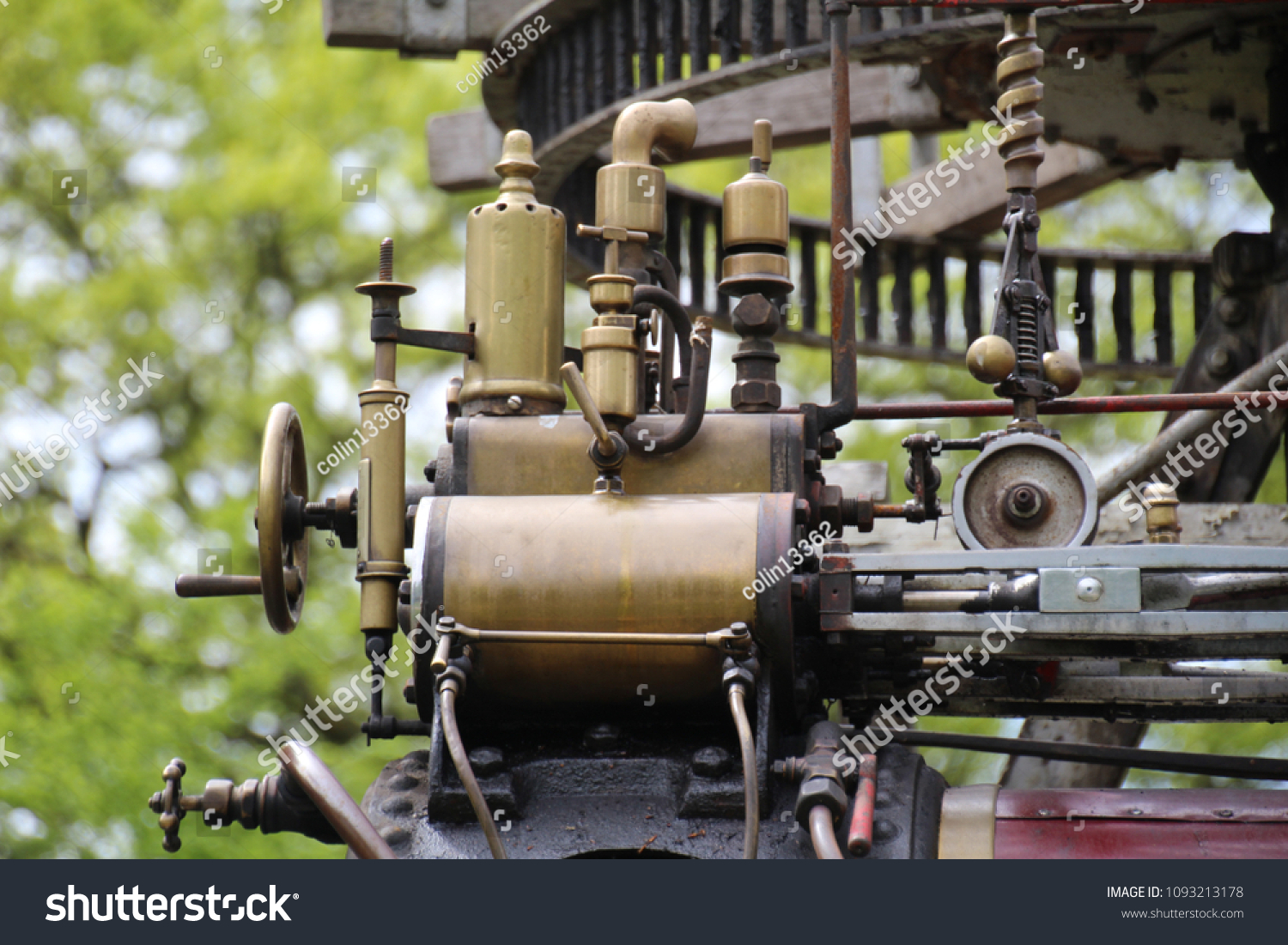 Close Part Old Steam Engine Used Stock Photo (Edit Now