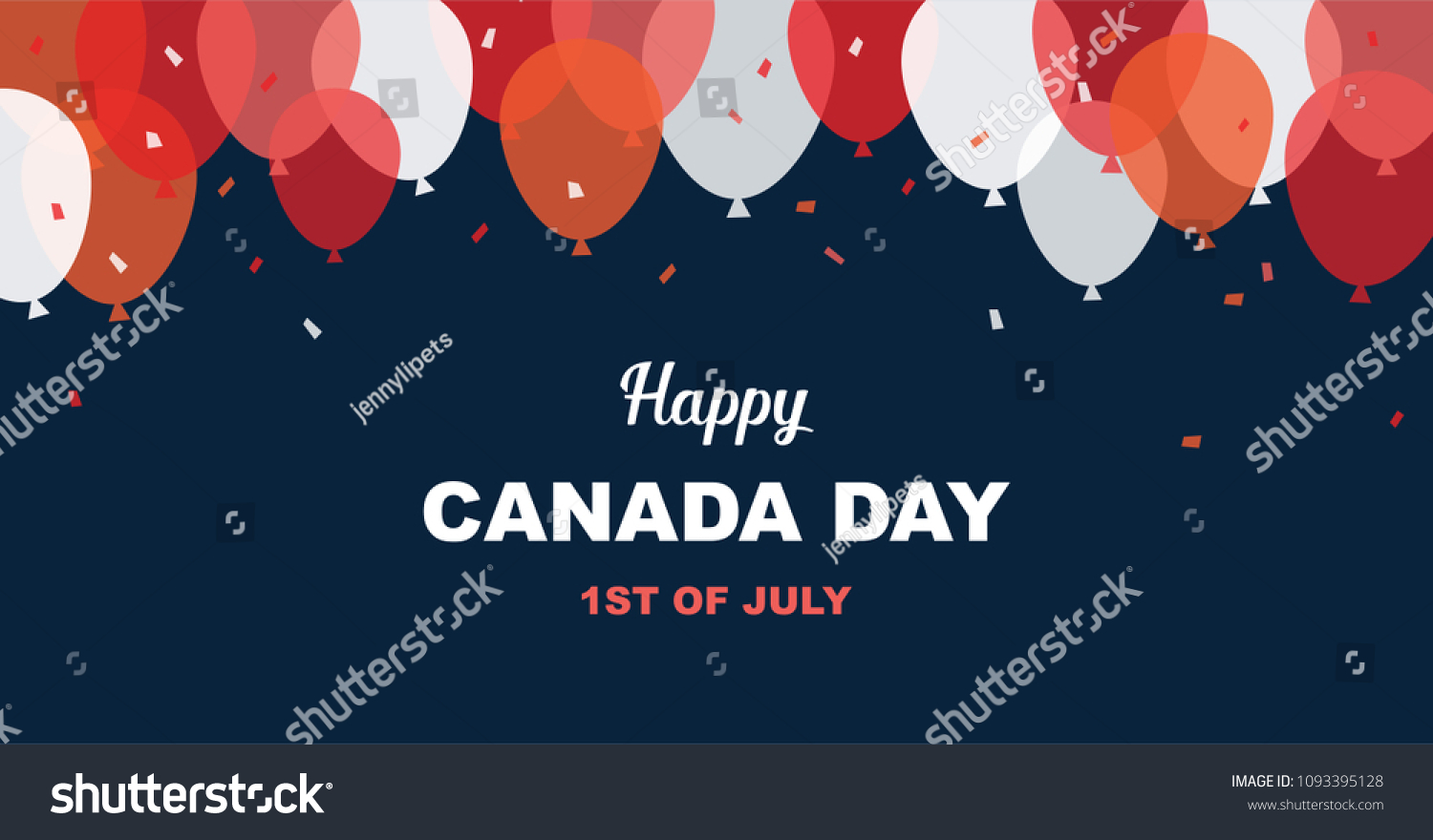 1 July Happy Canada Day Greeting Stock Vector 1093395128 Shutterstock