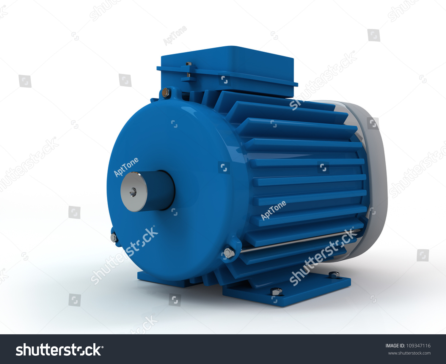 Threephase Asynchronous Electric Motor On White Stock Illustration ...