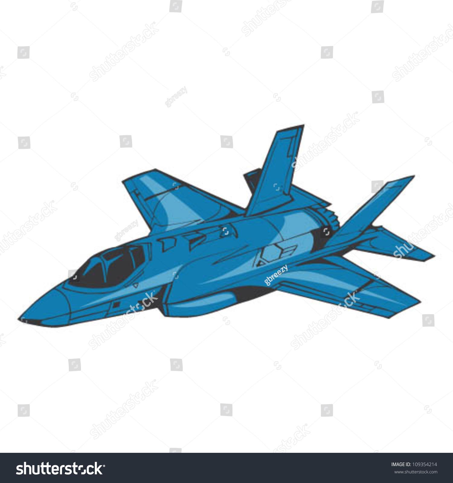 Blue Fighter Jets Stock Vector Fighter Jet