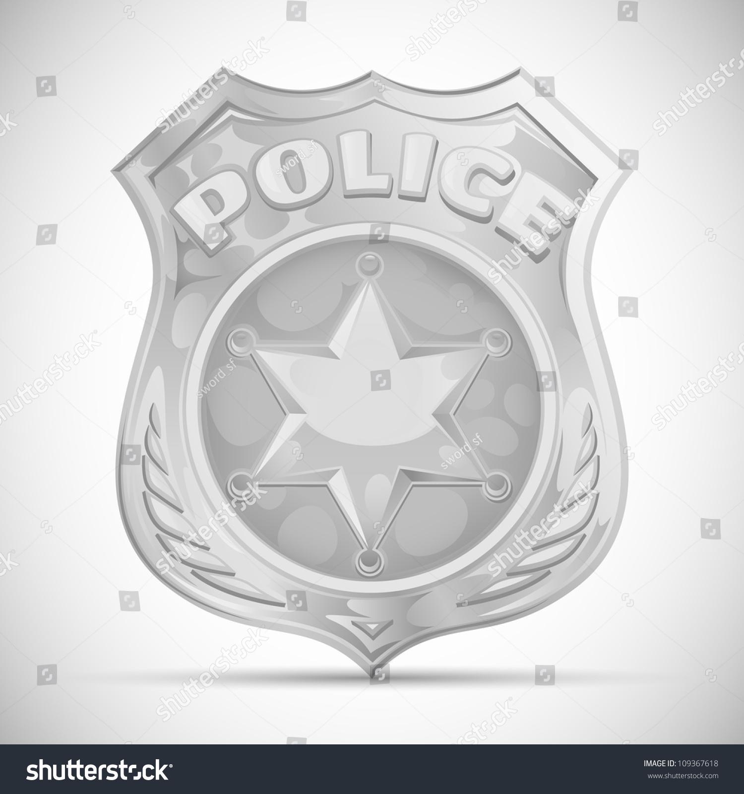 vector police badge stock vector 109367618 shutterstock