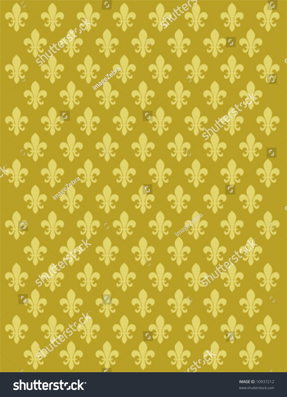 French Lily Flower Motif Background Vector Stock Vector Royalty