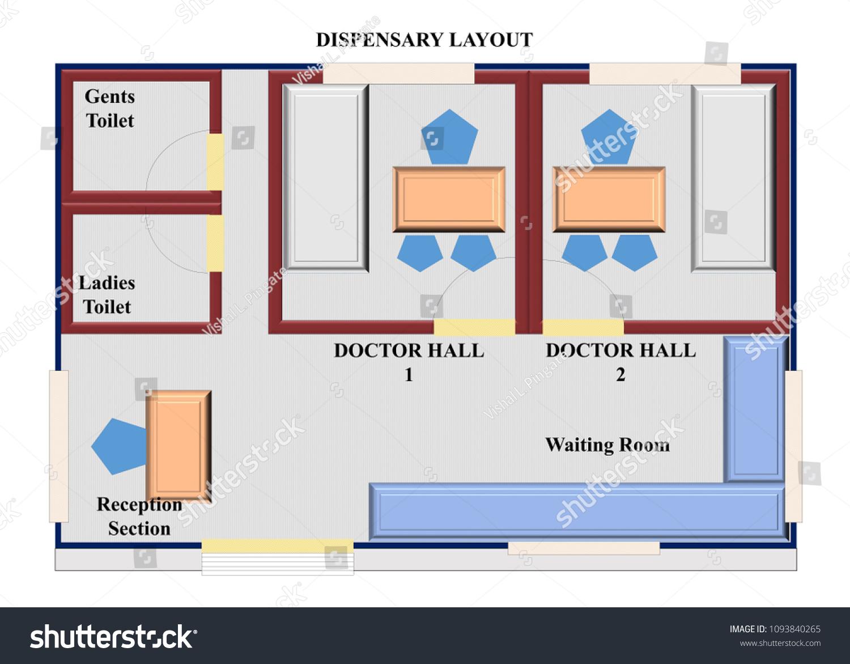 Layout Dispensary Construction Dispensary View Stock Illustration 1093840265