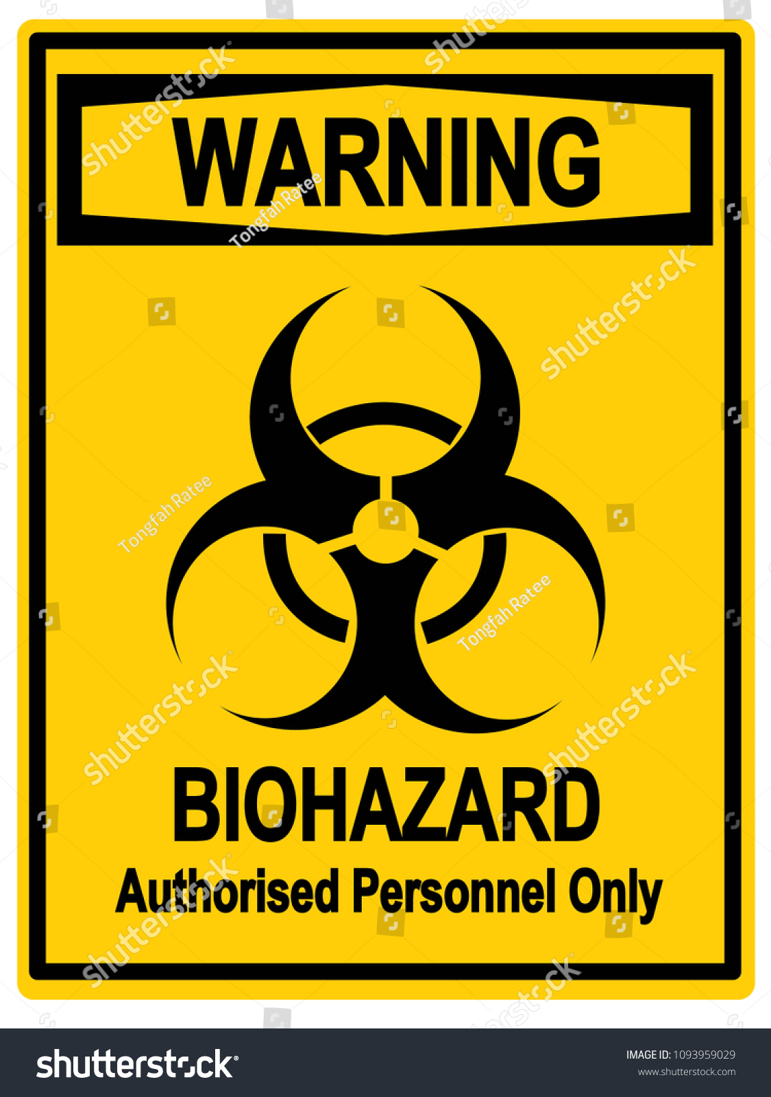 Biohazard Symbol Sign Biological Warning Stock Illustration