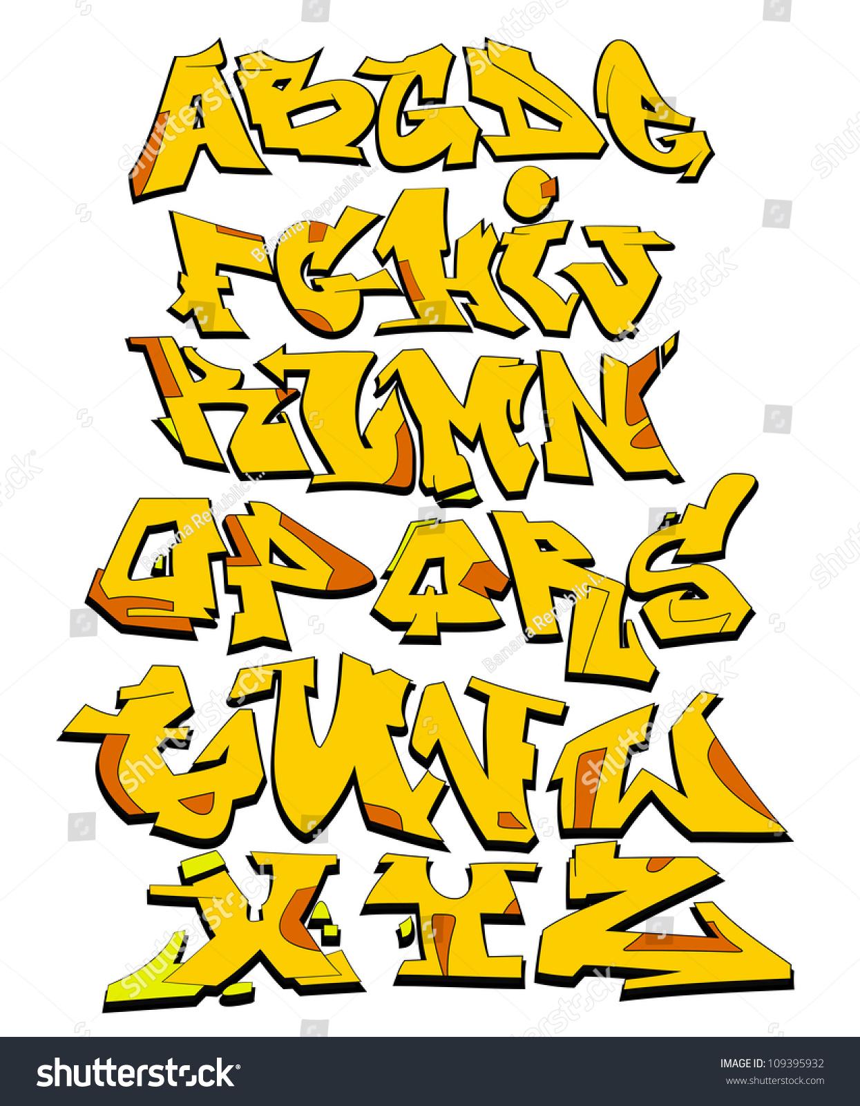 Graffiti art design - Graffiti Font Alphabet Urban Art Design