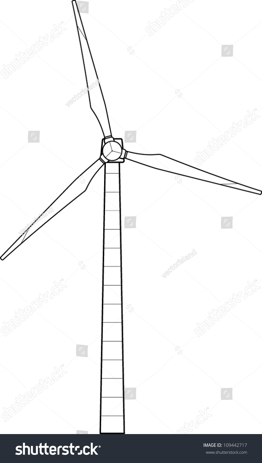 Line Drawing Windmill : Wind turbine line art stock vector shutterstock