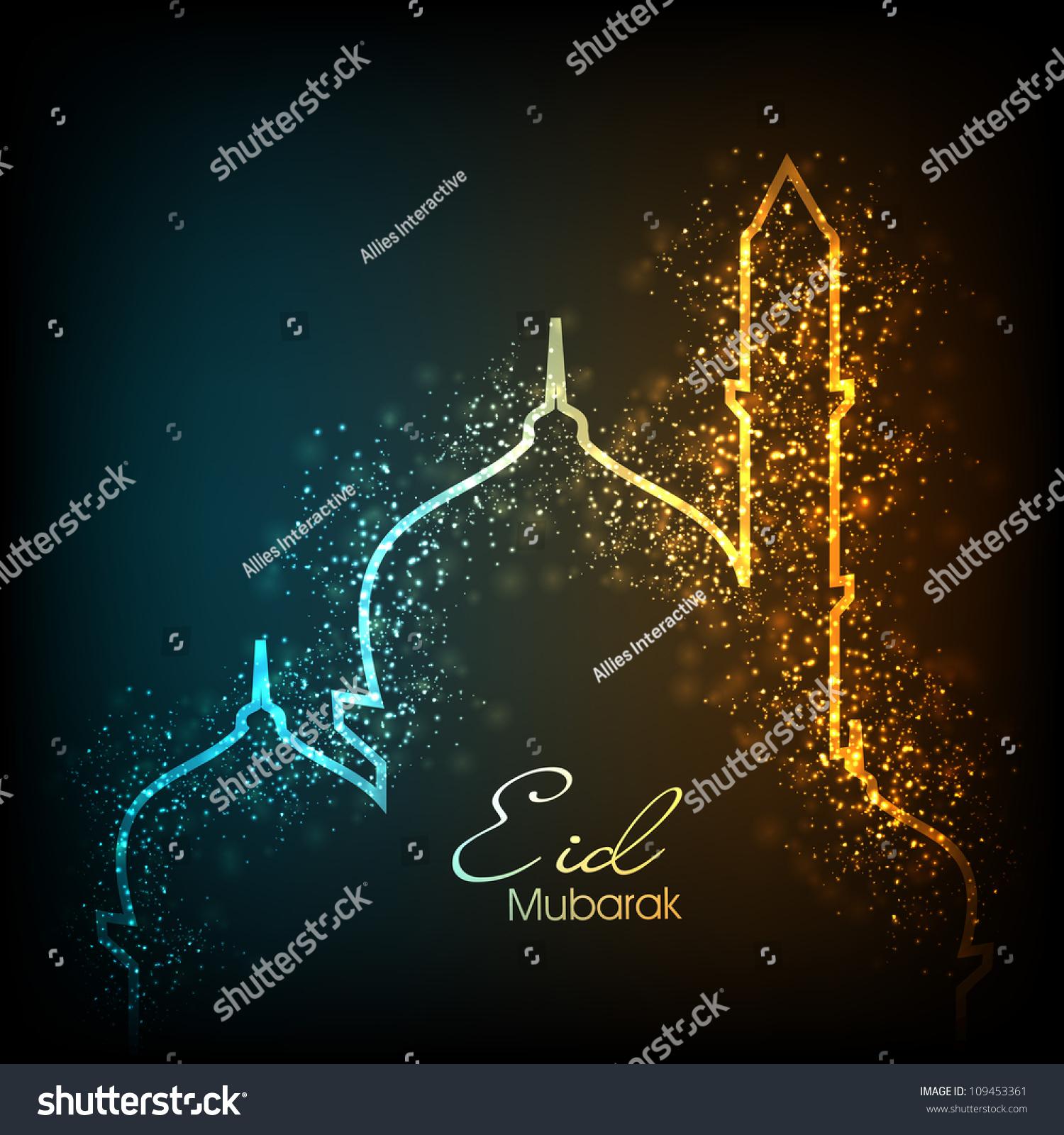 Beautiful Greeting Card Eid Mubarak Festival Stock Photo Edit Now