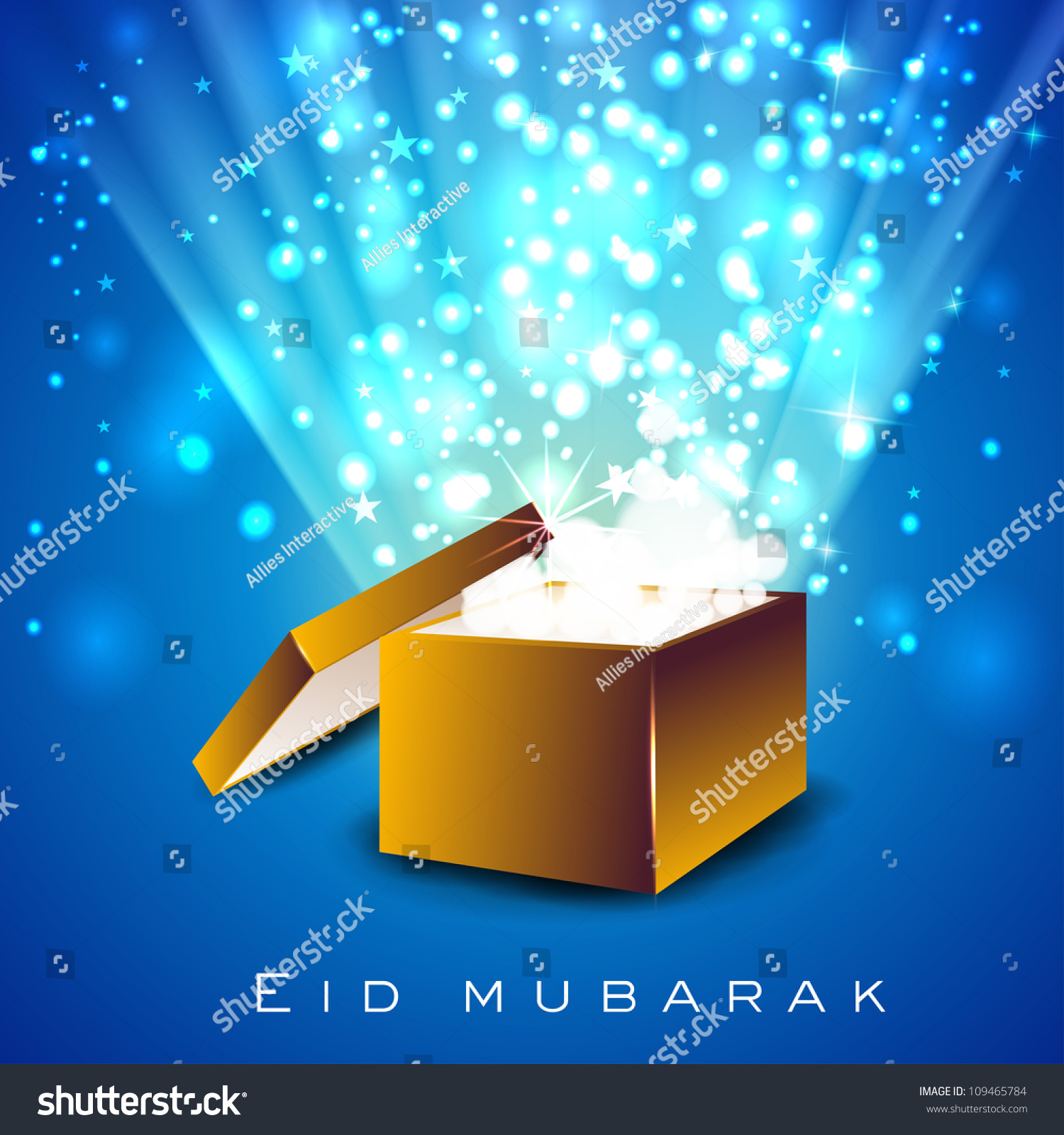 Beautiful greeting card eid mubarak gift stock vector 109465784 beautiful greeting card of eid mubarak with gift box and space for your message eps kristyandbryce Images