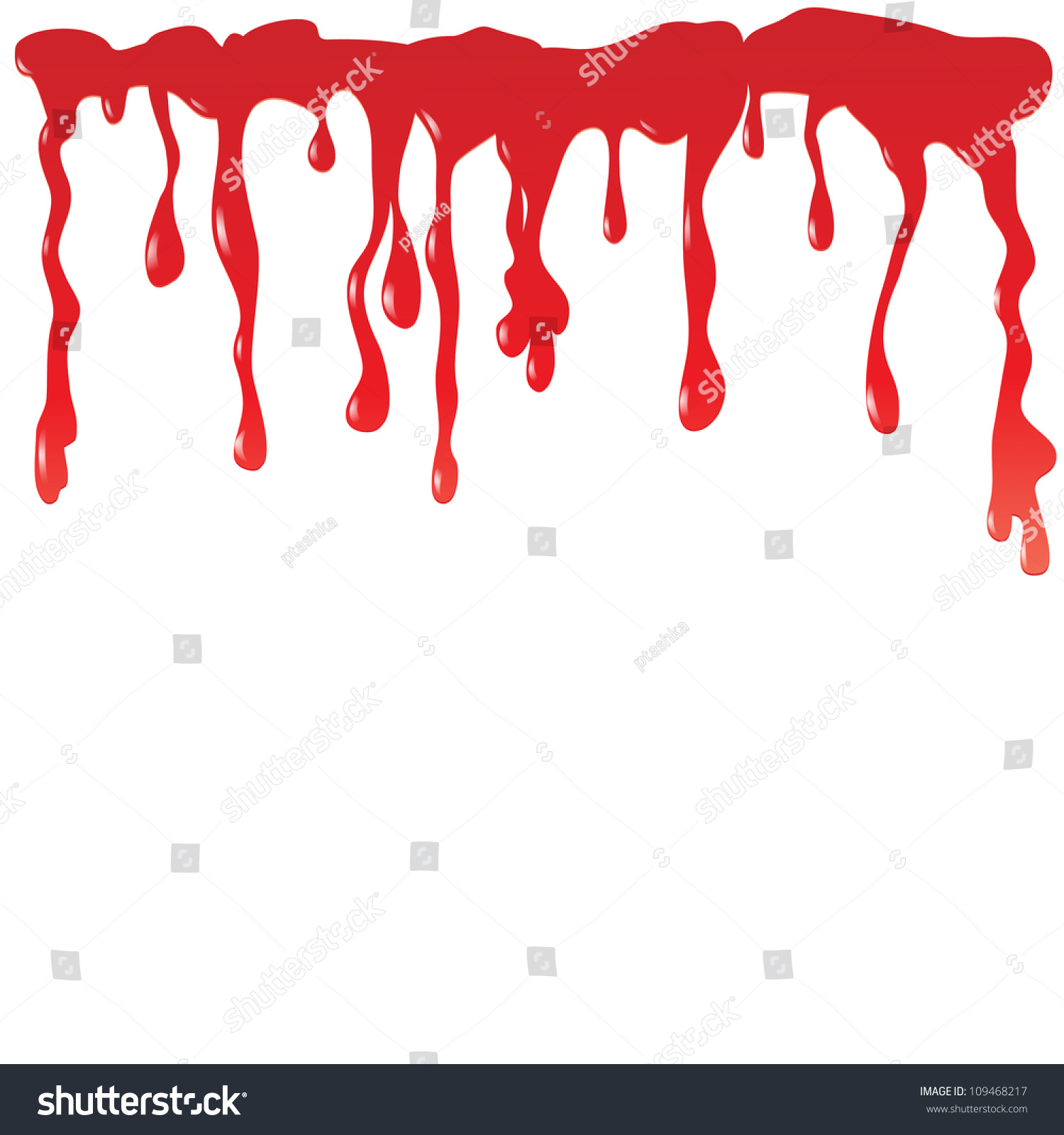 blood dripping on white background vector stock vector