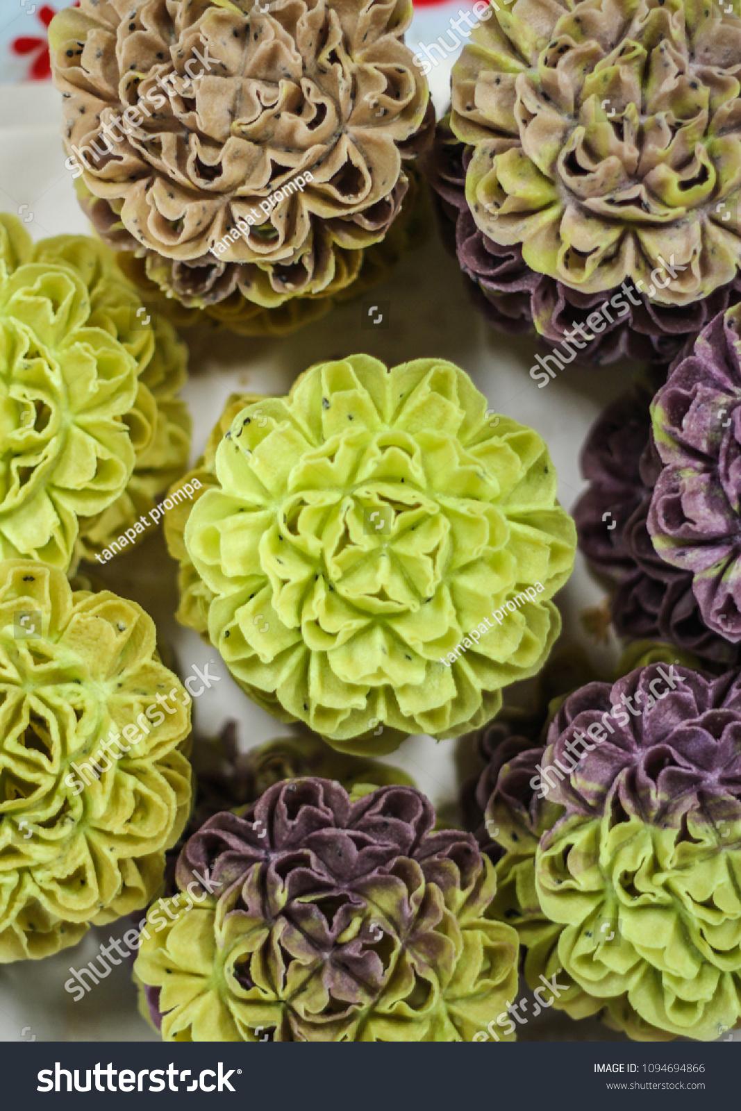Thai Cookie Crispy Lotus Blossom Cookie Stock Photo Edit Now