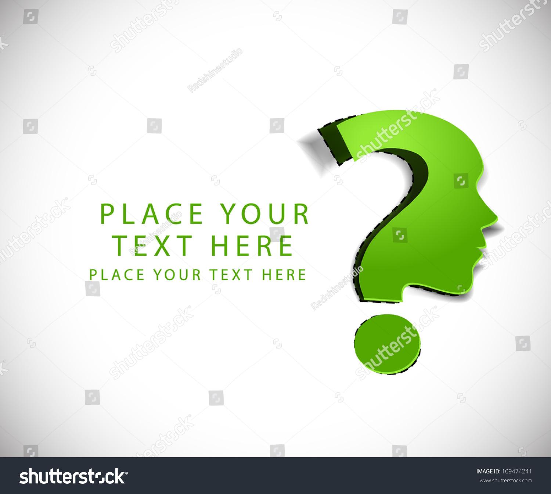 Vector Symbol Question Mark Green Background Stock Vector 109474241