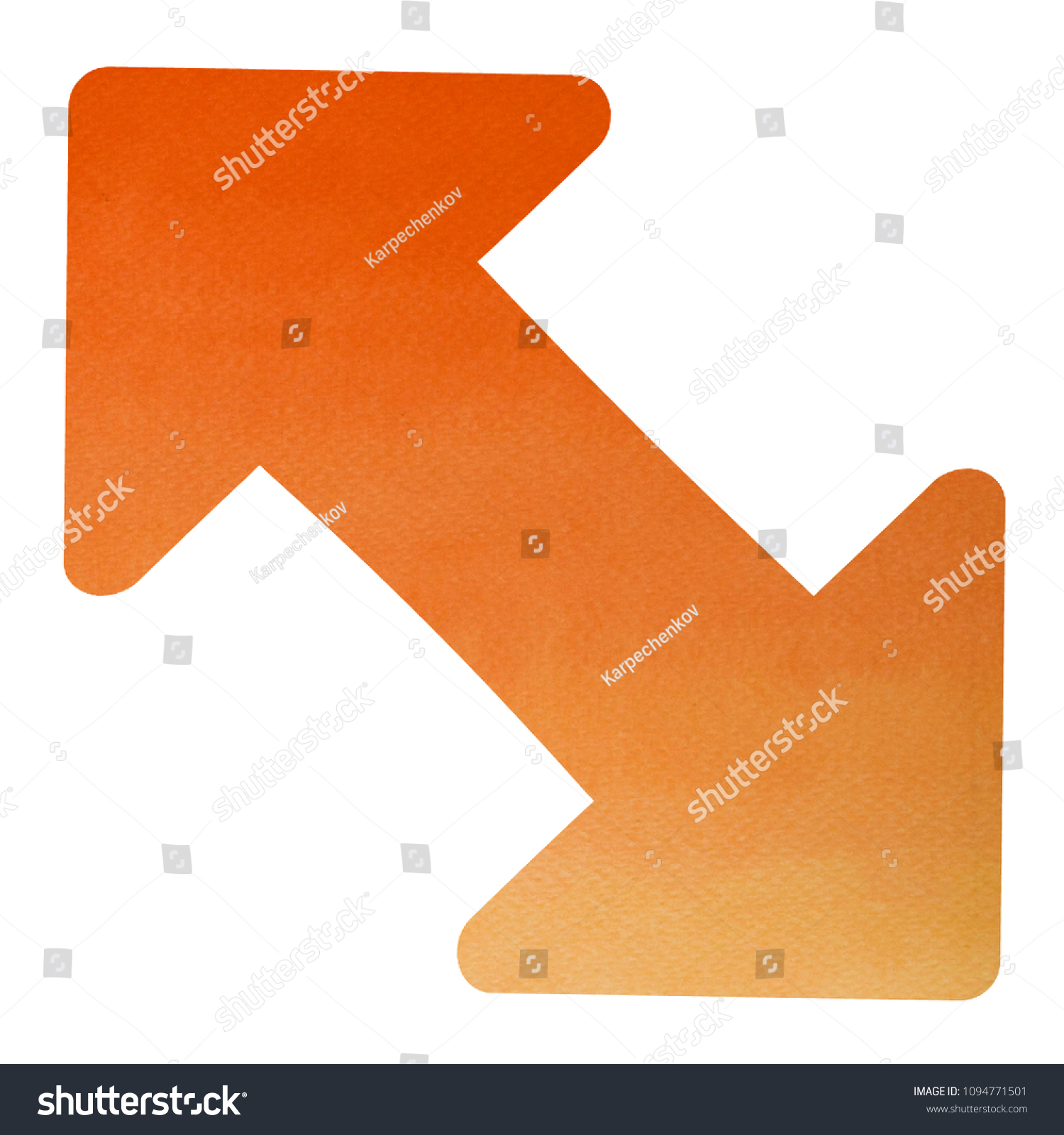 Diagonal Arrow Symbol Directional Double Arrow Stock Illustration